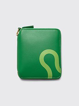 Comme des Garçons Wallet SA2100 Ruby Eyes Green