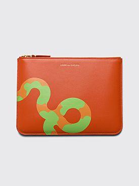 Comme des Garçons Wallet SA5100 Ruby Eyes Orange
