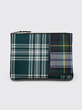 Comme des Garçons Wallet SA5100 Tartan Patchwork Green