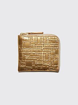 Comme des Garçons Wallet SA3100 Embossed Logotype Gold