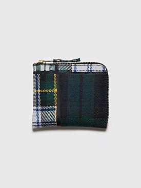 Comme des Garçons Wallet SA3100 Tartan Patchwork Green