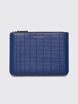 Comme des Garçons Wallet SA5100 Brick Line Blue