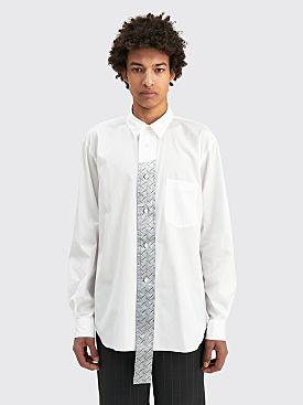 Comme des Garçons Homme Plus Silver Patch Shirt White