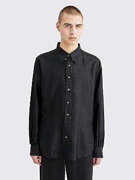 CLAMP Silk Shirt Diamond Black