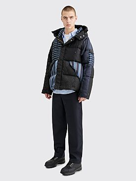 CLAMP Silk Down Jacket Navy / Black