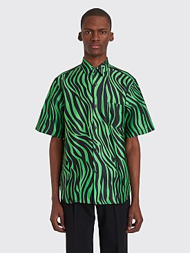 Cobra S.C. Model 1 Neon Zebra Short Sleeve Shirt Black / Green