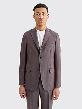 Cobra S.C. Notch Lapel Wool Jacket Red Chameleon