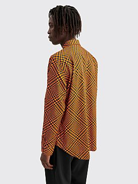 Cobra S.C. Model One Optical Check Shirt Orange / Black