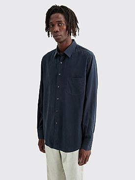 Cobra S.C. Model One Washed Silk Shirt Navy