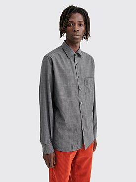 Cobra S.C. Angelo Wool Shirt Plaid Charcoal
