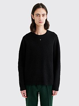 Craig Green Embroidered Hole Wool Boucle Sweater Black