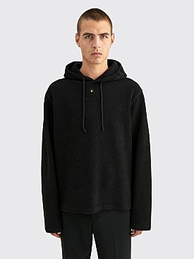 Craig Green Embroidered Hole Hooded Sweatshirt Black