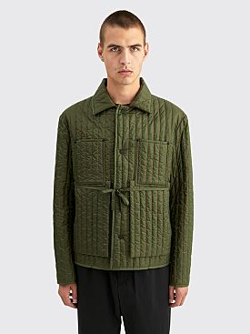 Craig Green Quilted Worker Jacket Olive