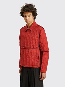 Craig Green Quilted Skin Jacket Red