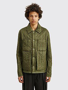 Craig Green Quilted Worker Jacket Green / Orange