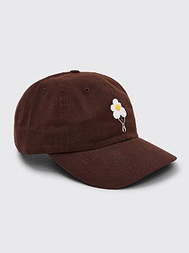 Dancer Flower Logo Twill Cap Dark Brown