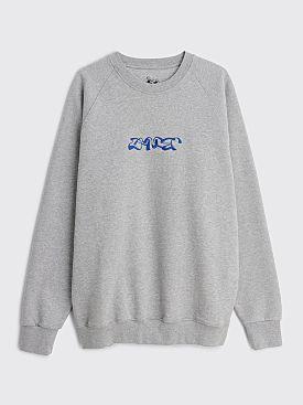 Dancer Single Triple Logo Crew Sweatshirt Grey