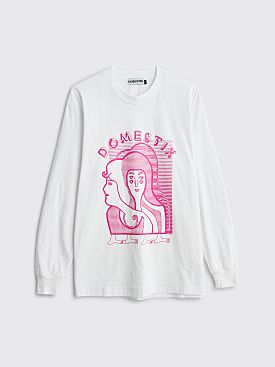 Domestik Sacred Couple LS T-shirt White