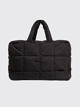 Dries Van Noten Large Quilted Tote Bag Black