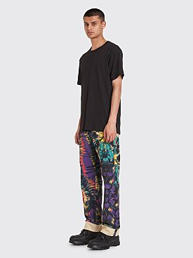 Dries Van Noten Panthero Tie Dye Jeans Petrol