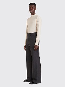 Dries Van Noten Prell Wool Pants Anthracite