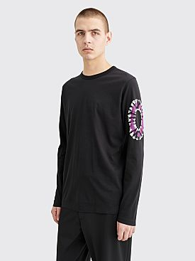 Dries Van Noten Harvard Tie Dye Detail LS T-shirt Black