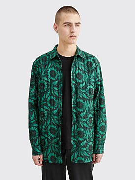 Dries Van Noten Constable Quilted Floral Shirt Green
