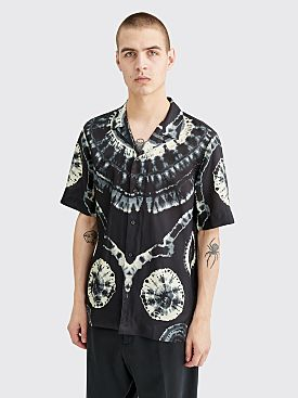 Dries Van Noten Carlton Tie Dye Shirt Black