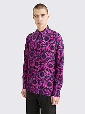 Dries Van Noten Clifton Shirt Floral Print Fuchsia