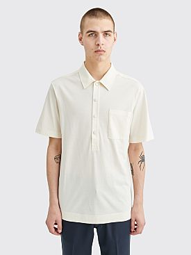 Dries Van Noten Hardy Polo Ecru White