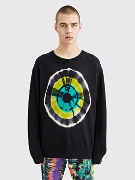 Dries Van Noten Tibia Knitted Wool Sweater Tie Dye Black