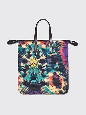 Dries Van Noten Tote Bag Tie Dye Black / Petrol