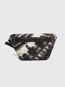 Dries Van Noten Large Quilted Belt Bag Tie Dye Black