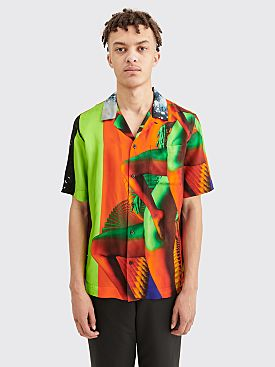 Dries Van Noten Carltone Shirt Dessin B Orange