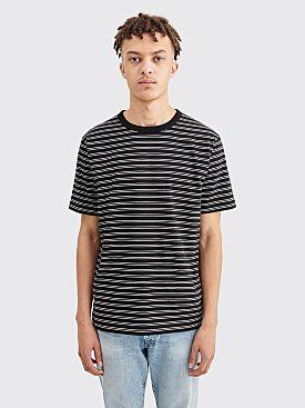 Dries Van Noten Habs Stripe T-shirt Navy / White