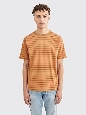 Dries Van Noten Habs Stripe T-shirt Camel / Red