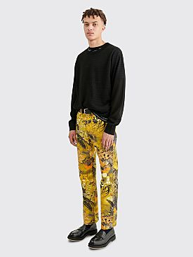 Dries Van Noten Panthero Pants Dessin B Yellow