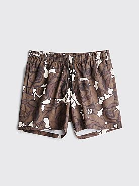 Dries Van Noten Phibbs Swim Shorts Kaki / Ecru