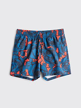 Dries Van Noten Phibbs Swim Shorts Red / Blue