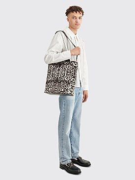 Dries Van Noten Leather Tote Bag Ecru