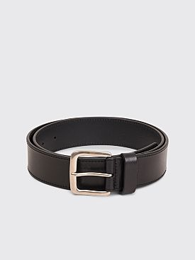 Dries Van Noten Leather Belt Black