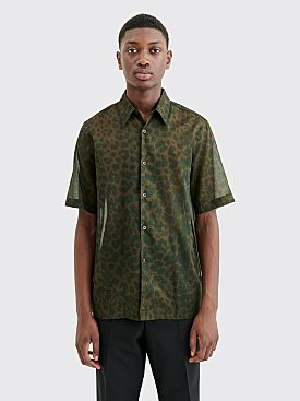 Dries Van Noten Clasen Shirt Kaki Leopard