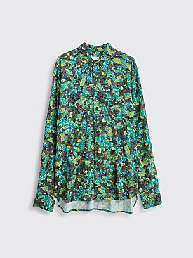 Dries Van Noten Curzon Bis Embroidery Shirt Green