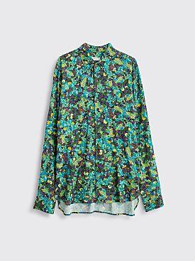 Dries Van Noten Curzon Bis Embroidery Shirt Green