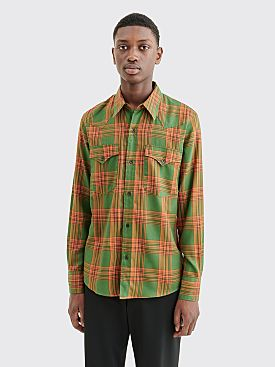 Dries Van Noten Curtain Bis Shirt Green