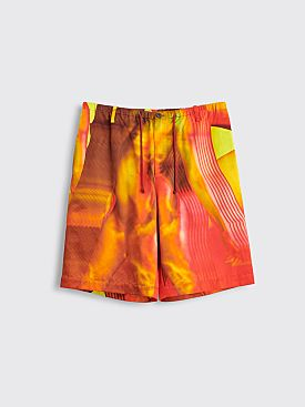 Dries Van Noten Pieny Shorts Dessin B Orange