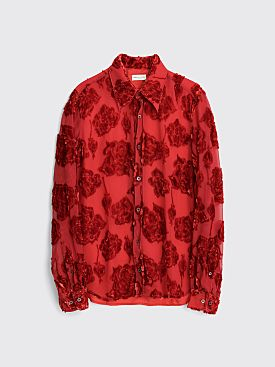 Dries Van Noten Chainey Bis Shirt Red