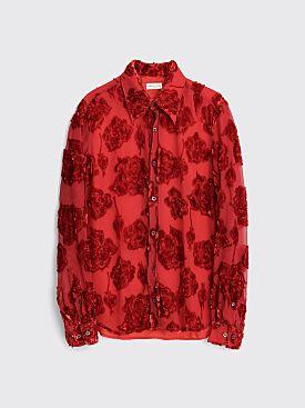 Dries Van Noten Chainey Bis Shirt Red