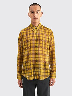 Dries Van Noten Chainey Shirt Checkered Green
