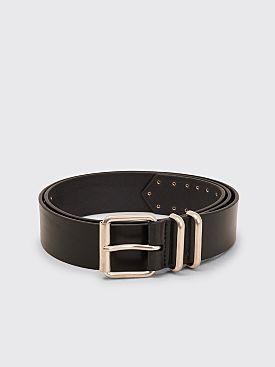 Dries Van Noten Leather Belt Black